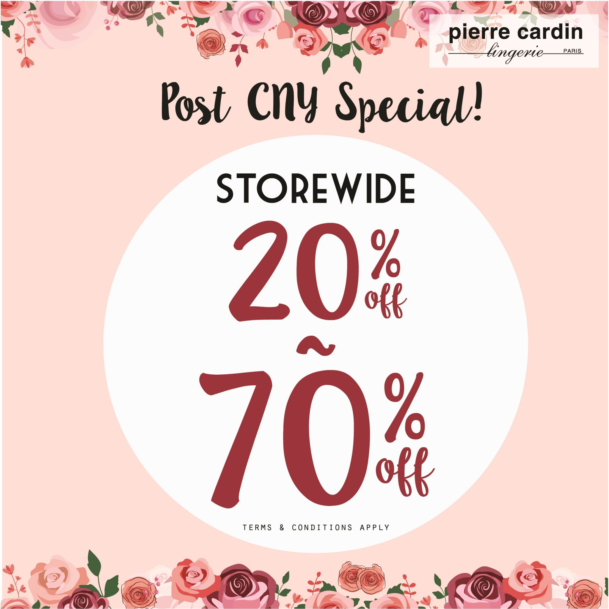 Take Up To 70 Off Storewide This Post CNY At Pierre Cardin Lingerie