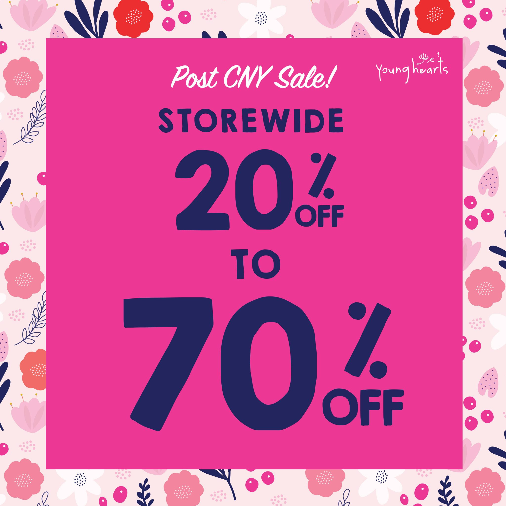Check Out Post CNY Sale At Young Hearts Lingerie