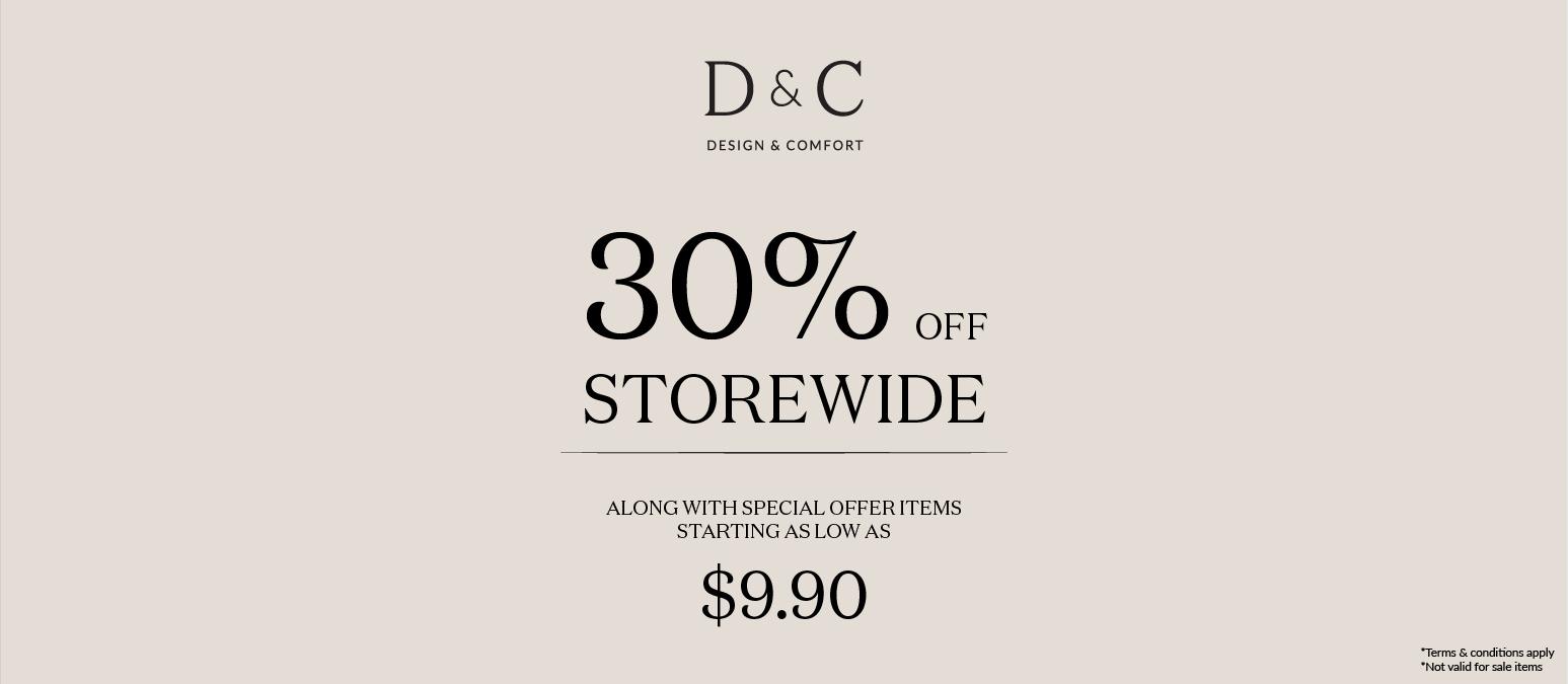 D&C Atrium Sale